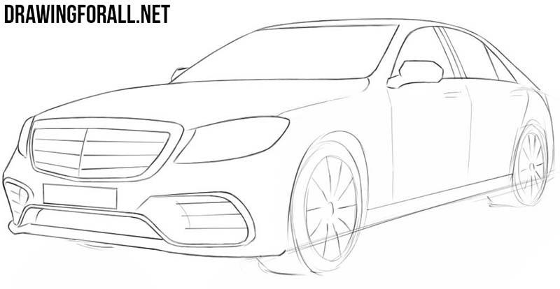 Легкий рисунок автомобиля