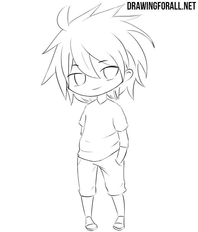 Chibi character drawing