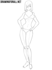 Drawing anime female body