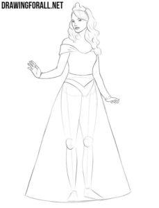 Easy princess drawing
