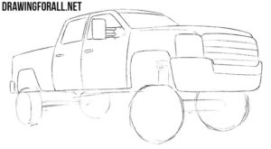 How easy to draw a truck