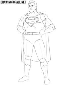 How to draw Superman for beginners