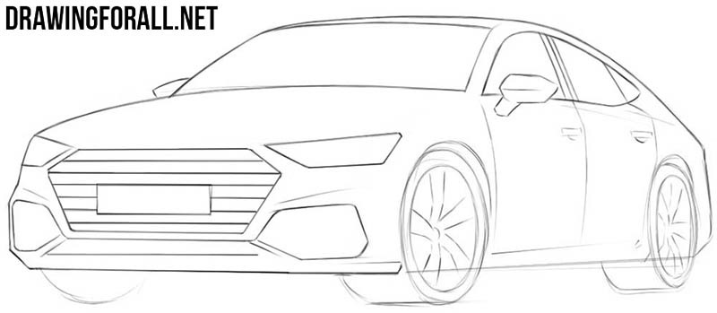 How to draw a cool car easy