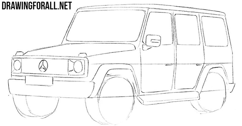 How to draw an off road car
