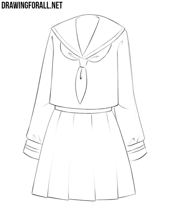 How to draw anime dresses