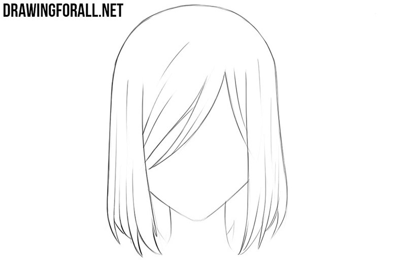 How To Draw Anime Hair Drawingforall Net