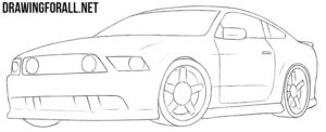 Muscle car drawing tutorial
