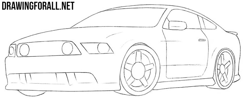 Muscle car drawing tutorial