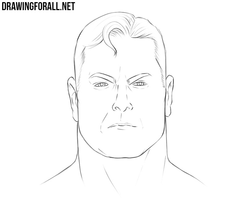 Superman face drawing tutorial