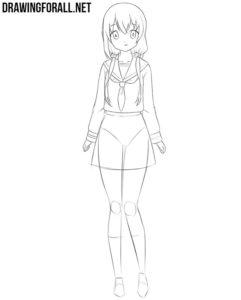 Cute anime girl drawing tutorial