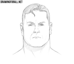 How to draw Superman face