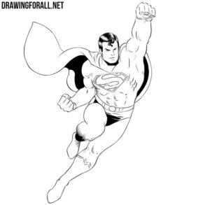 How to draw Superman flying
