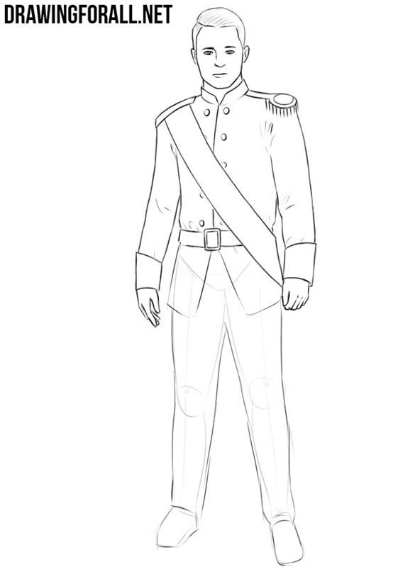How to draw a prince easy