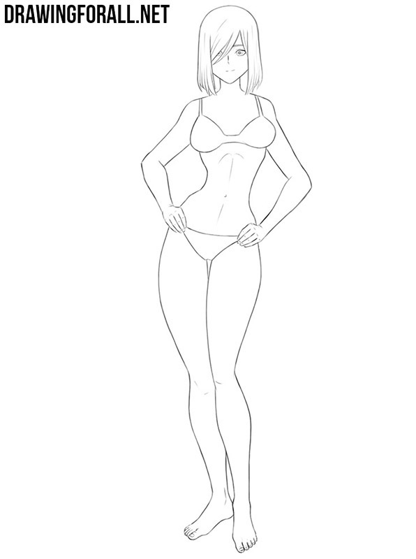 How to draw an anime female body