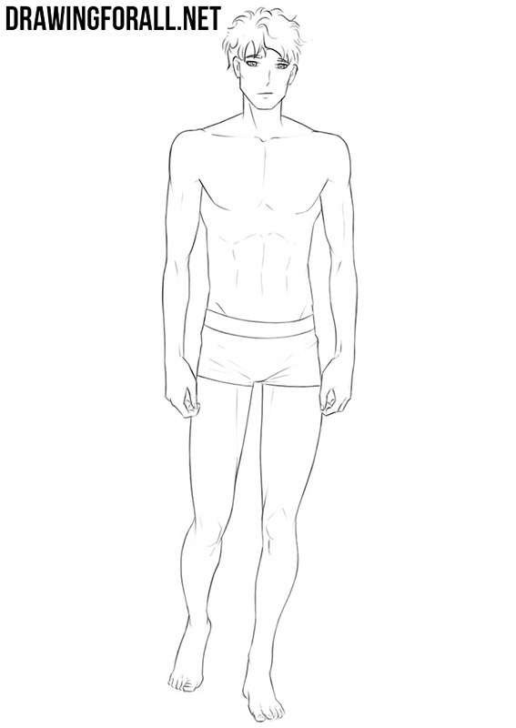 How to draw anime body male