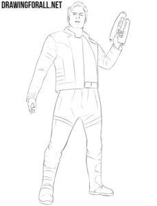 Star Lord drawing tutorial
