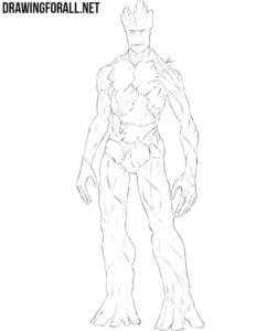 Groot drawing tutorial