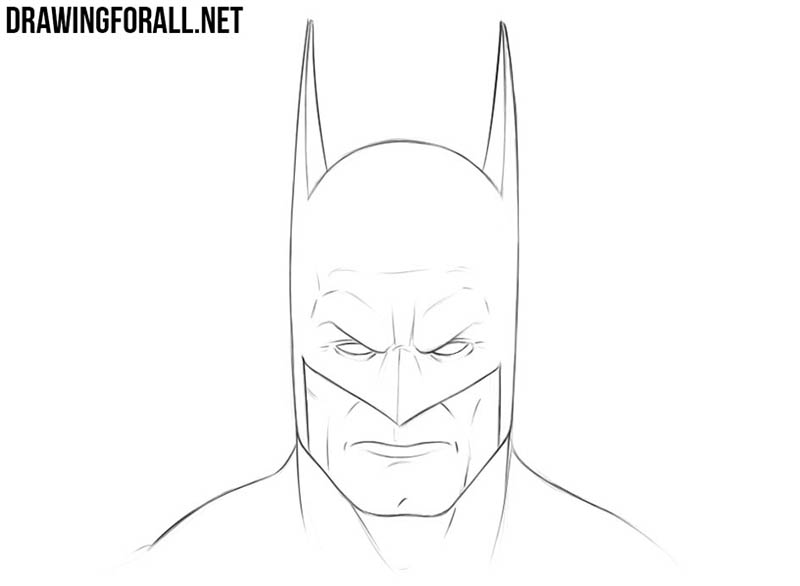 How to draw Batman head