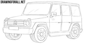 How to draw a SUV
