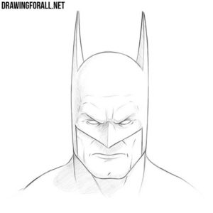 How to draw Batman face