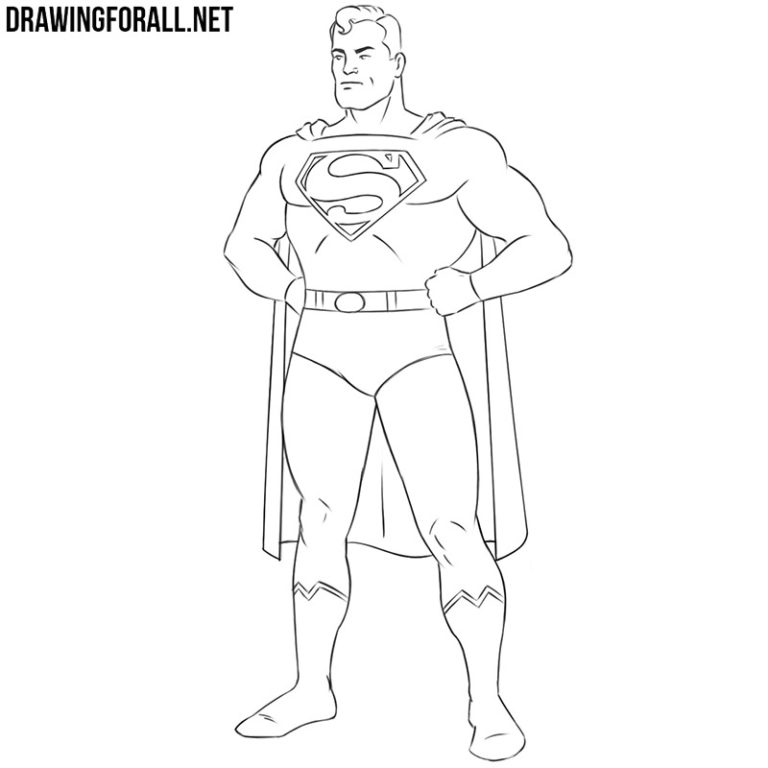 How to Draw Superman Easy