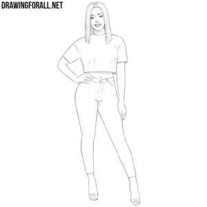 How to draw a girl