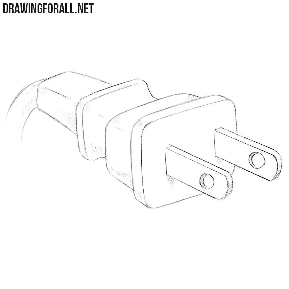 how to draw a plug