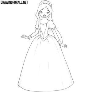 How to draw a princess easy