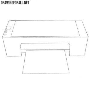 How to draw a printer