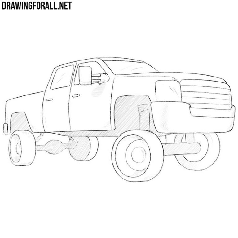 How to Draw a Truck Easy