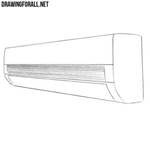 How to draw an air conditioner