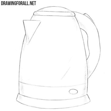 How to Draw an Electric Kettle