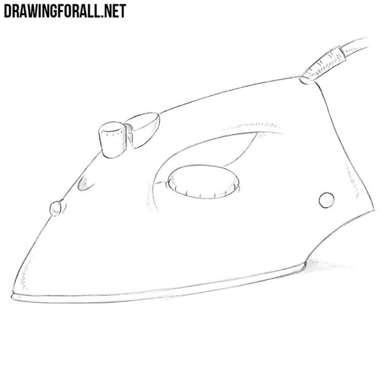 How to Draw a Clothes Iron