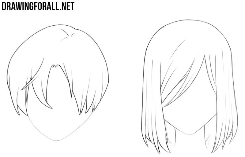 How to draw anime hair