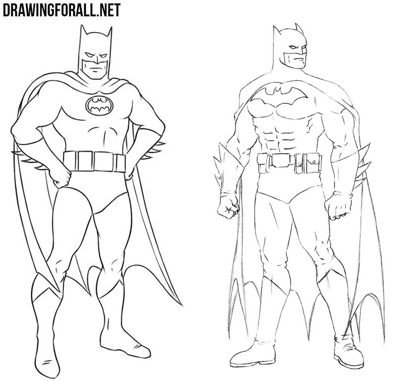 How to draw Batman costumes