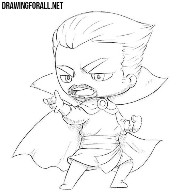 How to Draw Chibi Dr. Strange
