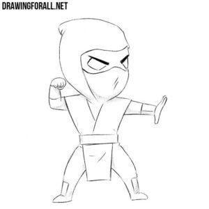 How to draw chibi Scorpion