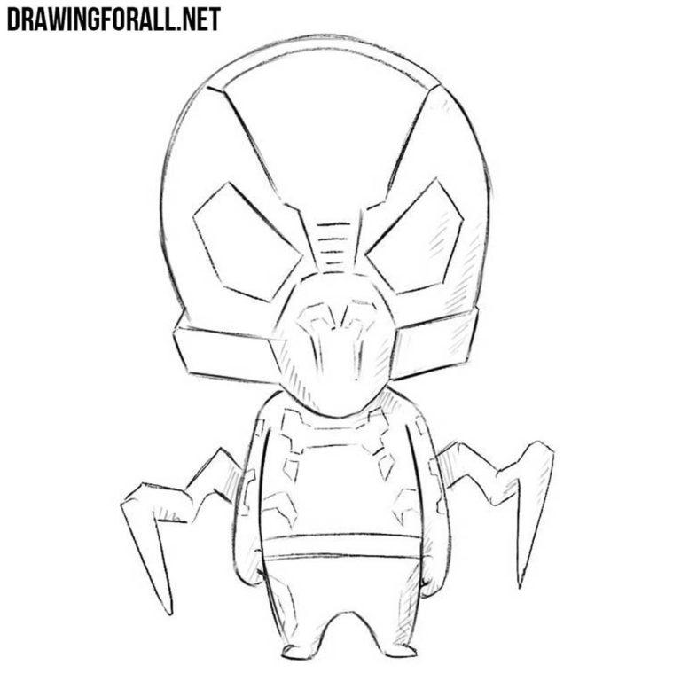How to Draw Chibi Yellowjacket