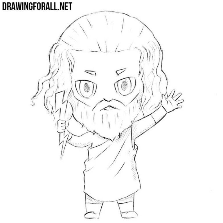 How to Draw Chibi Zeus