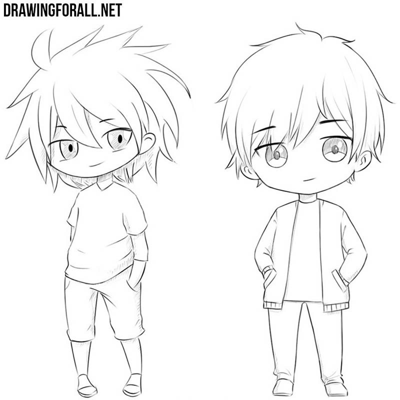 How to draw chibi step by step
