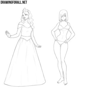 How to draw girls step by step