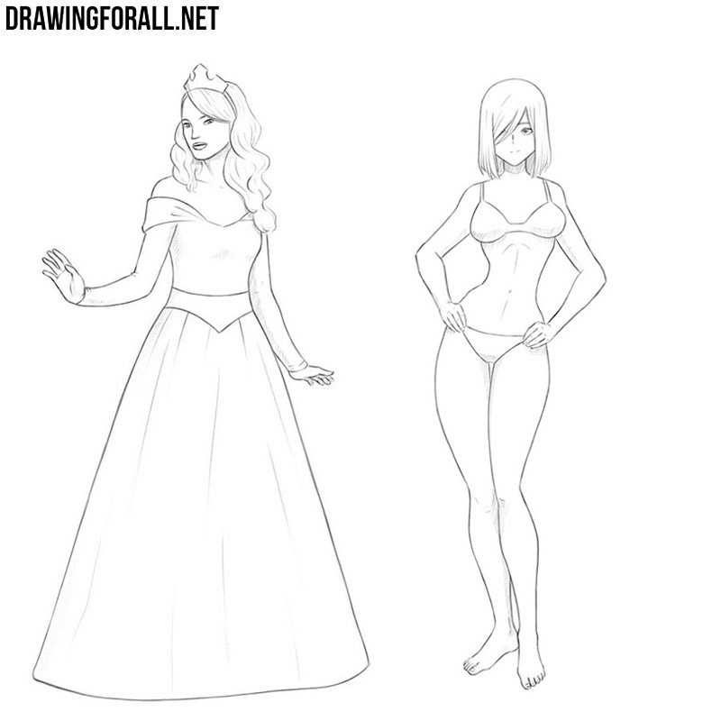 How To Draw A Girl Drawingforall Net