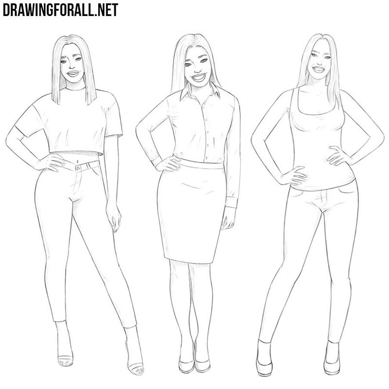 How to draw girls