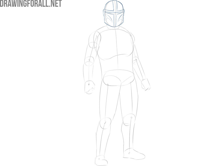 How to Draw The Mandalorian easy step by step