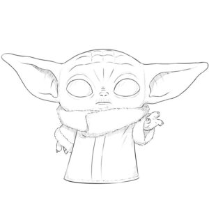 How to draw Baby Yoda
