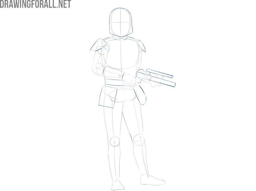 How to draw Boba Fett from star wars