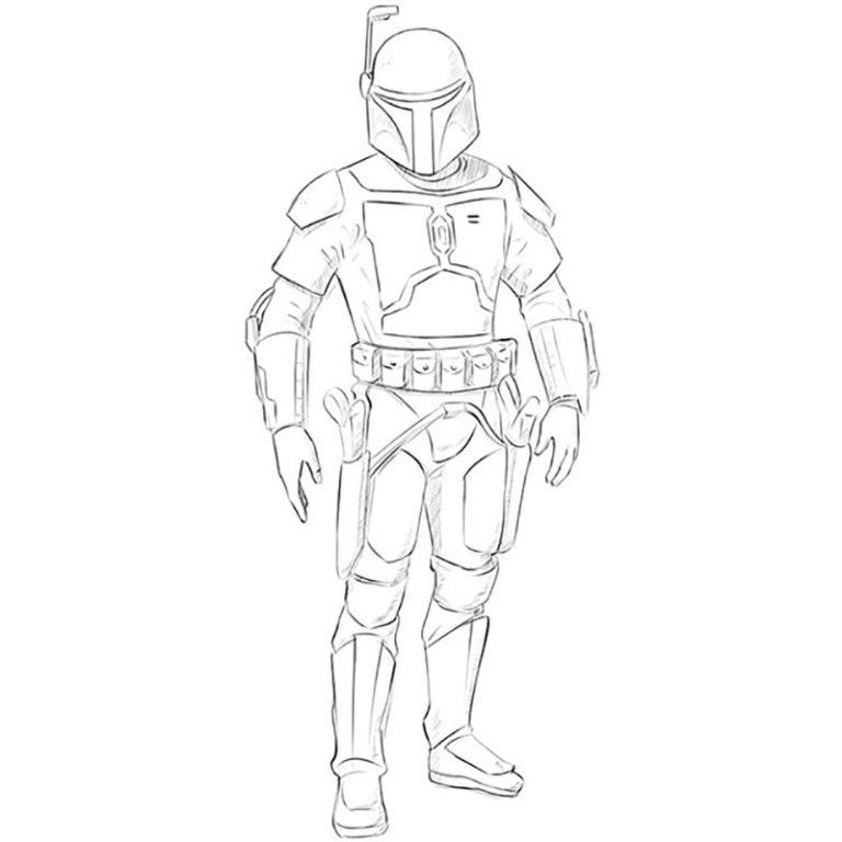 How to Draw Jango Fett