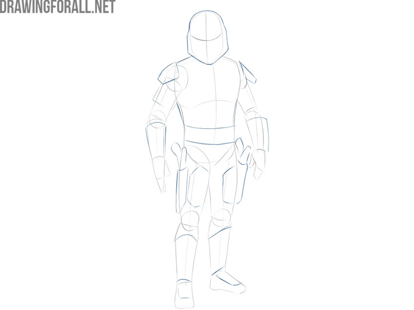 How to draw Jango Fett from Star Wars easy