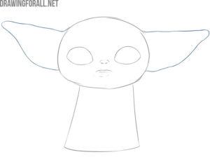 How to draw baby Yoda mem