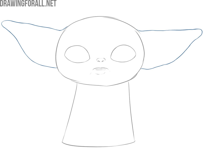 How to draw baby Yoda mem